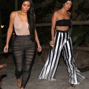 COPY - Kim Kardashian inspired sexy pink ruched jumpsuit
